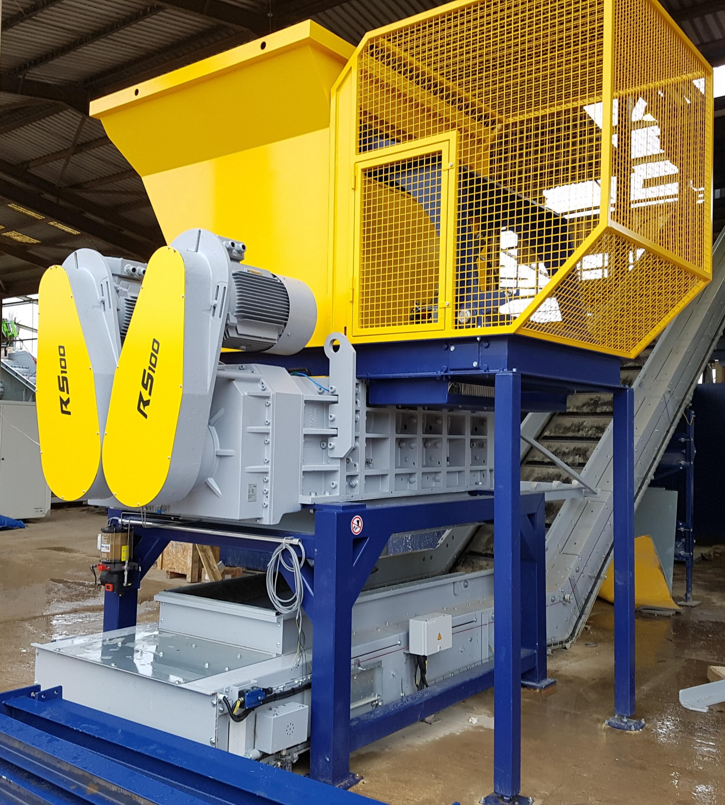 Waste and recycling firm M&M's new powerful shredder at its Cassington plant. Picture: M&M