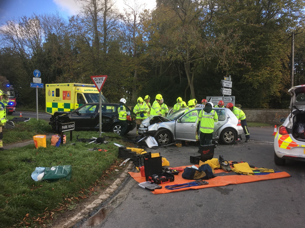 Motorists urged to take care following head on crash in West Oxfordshire