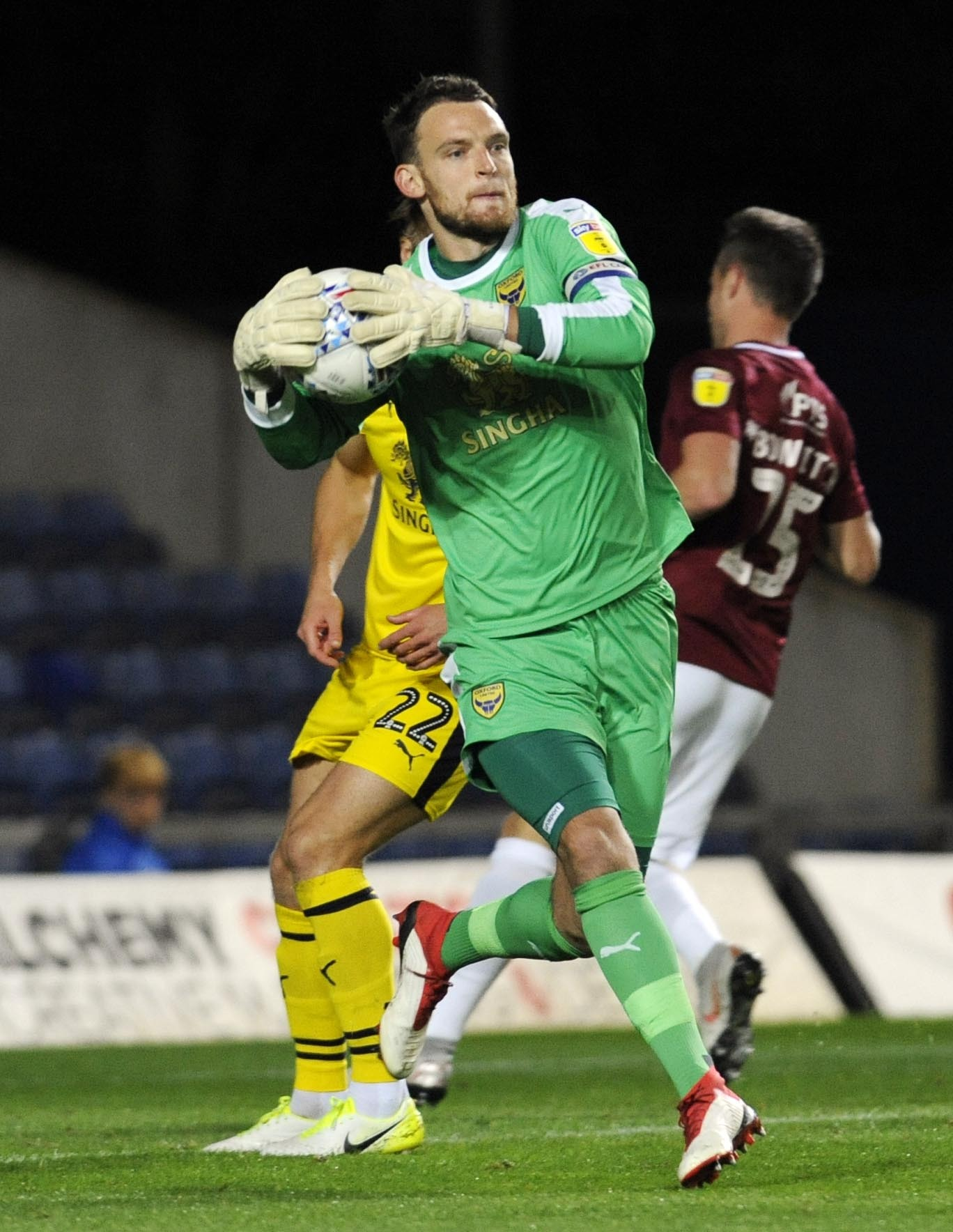 Oxford United keeper Simon Eastwood is in the running for October's player of month