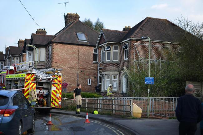 Firefighters attend a suspected arson attack at 82 Westminster Way, Botley, in April 2015
