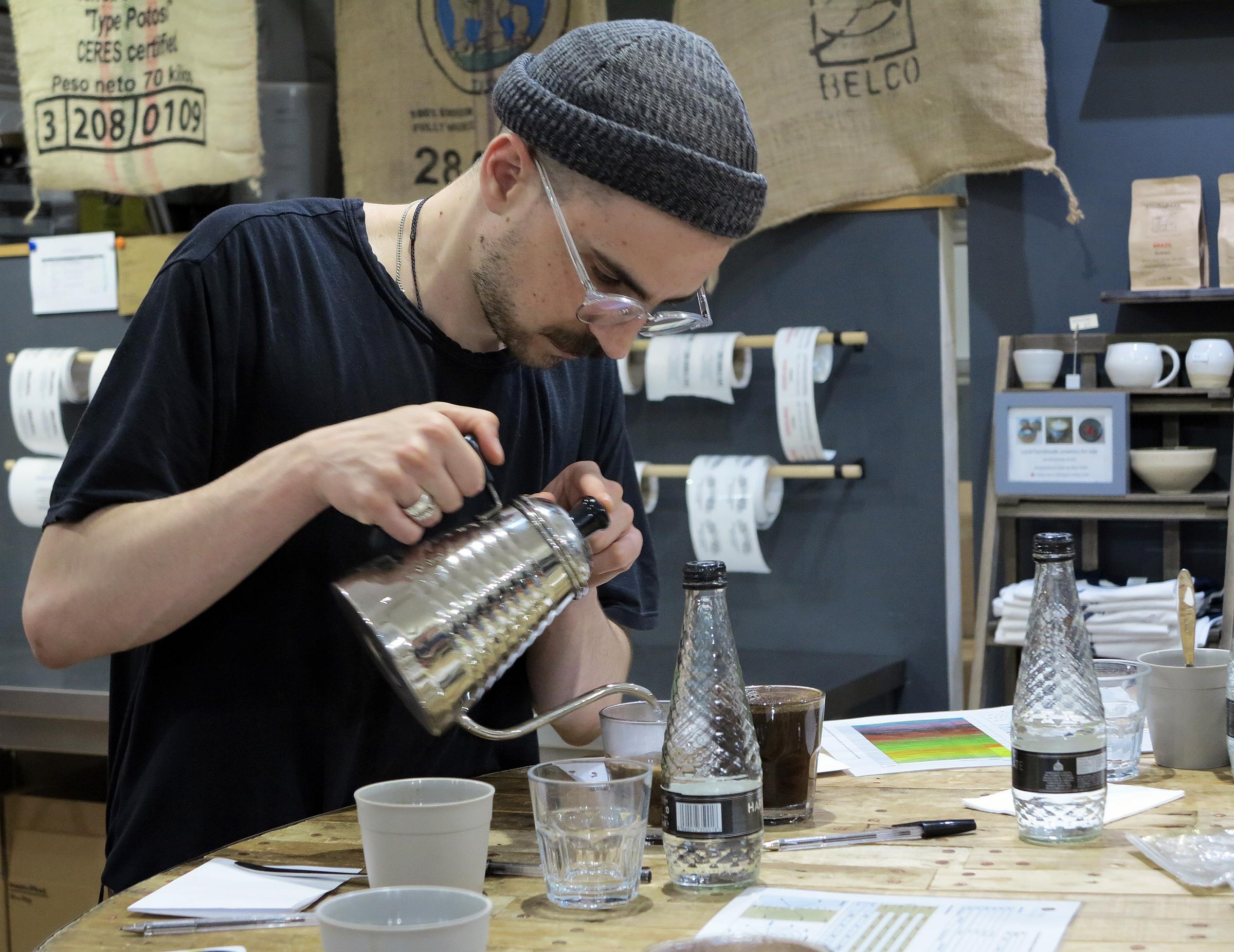 Coffe cupping at Missing Bean, Magdalen Road, Oxford, Picture: Marc West/Oxford Mail (c)