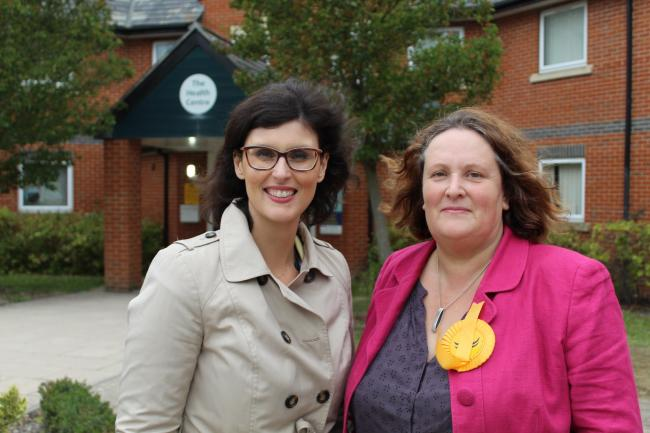 Oxford West and Abingdon MP Layla Moran with new Wantage and Grove county councillor Jane Hanna.