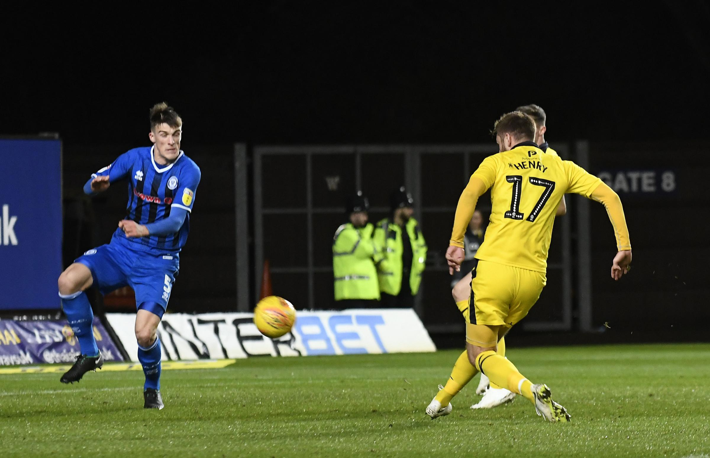James Henry slots home Oxford United's second goal against Rochdale Picture: David Fleming