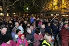 Some of the crowds crammed onto the high Street and Market Square at Witney Xmas Lights switch on.Picture: Ric Mellis.30/11/2018.