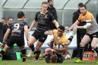 Reon Joseph scored two tries during Chinnor's defeat at Loughborough Students in National League 1 Picture: Ric Mellis