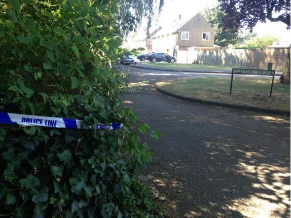 A police cordon was in place following the stabbing in July.