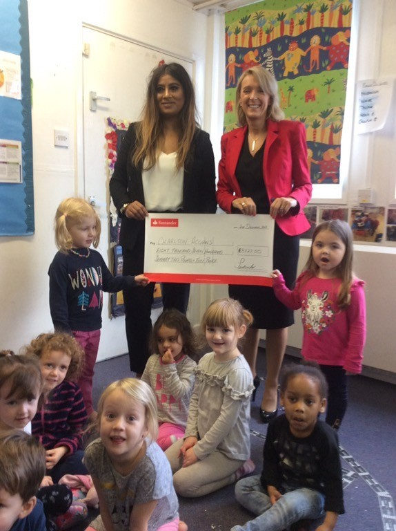 Acorns pre-school in Wantage has raised more than £8,000 for its garden