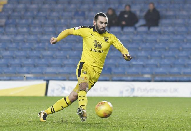 Ricky Holmes's last appearance for Oxford United came against Tottenham Hotspur U21s last month  Picture: David Fleming