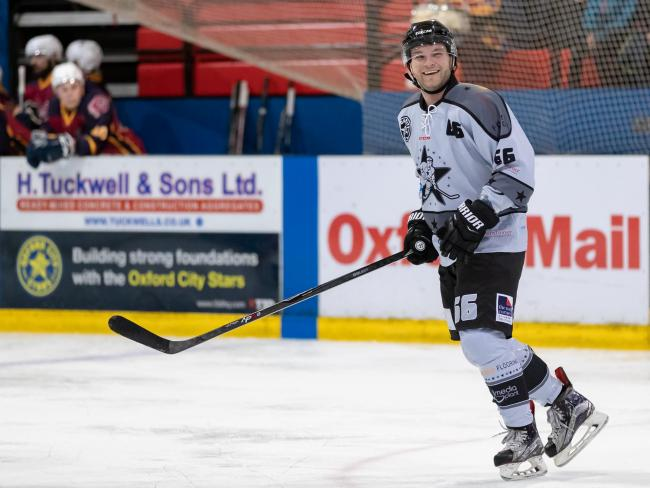 Joe Edwards scored in Oxford City Stars' 10-3 win over Basingstoke Buffalo Picture: Paul Foster