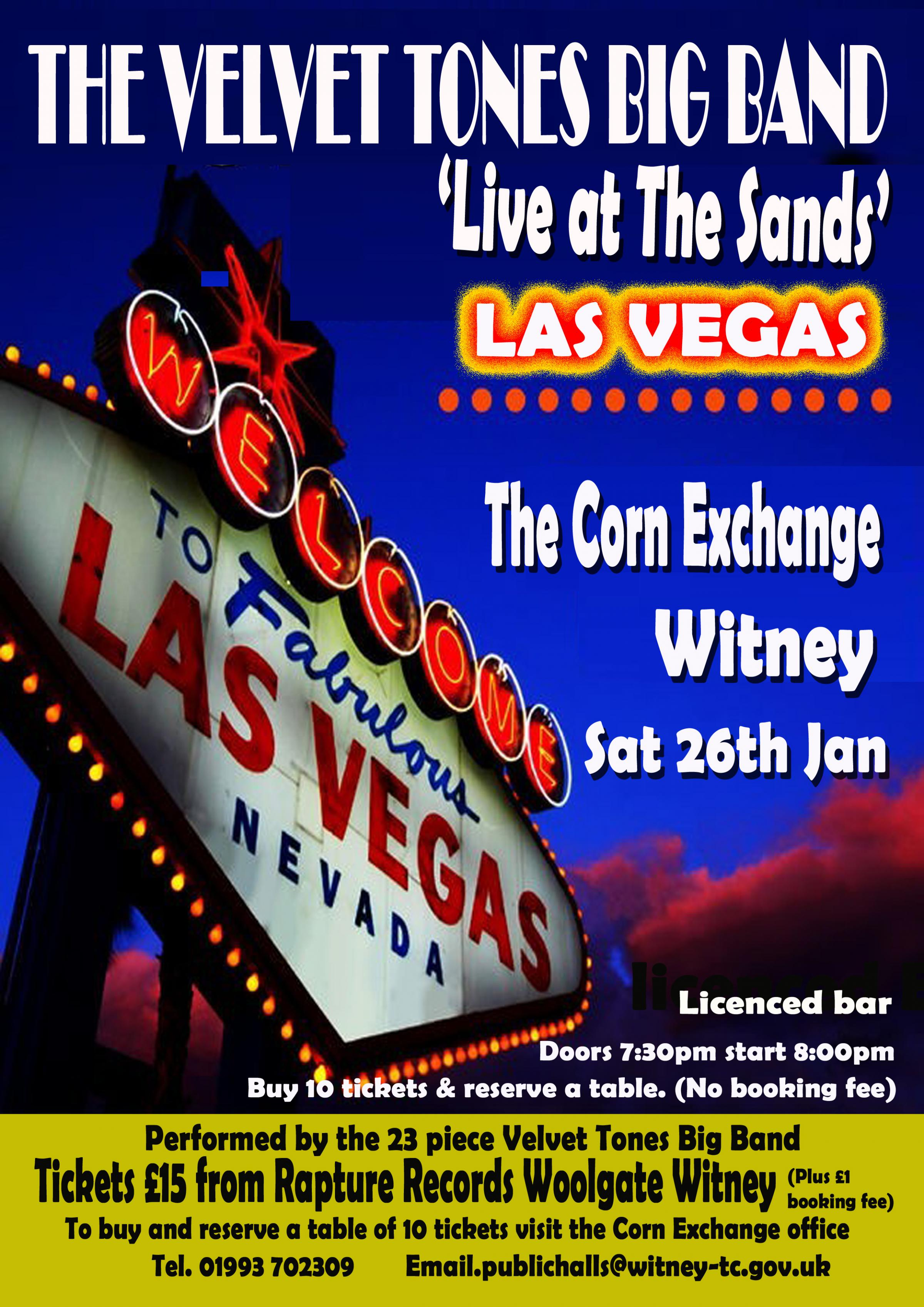 The Velvet Tones Big Band, 'Live at The Sands Las Vegas'