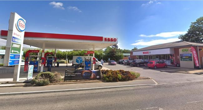 Ambulance worker stopped from leaving Esso petrol station