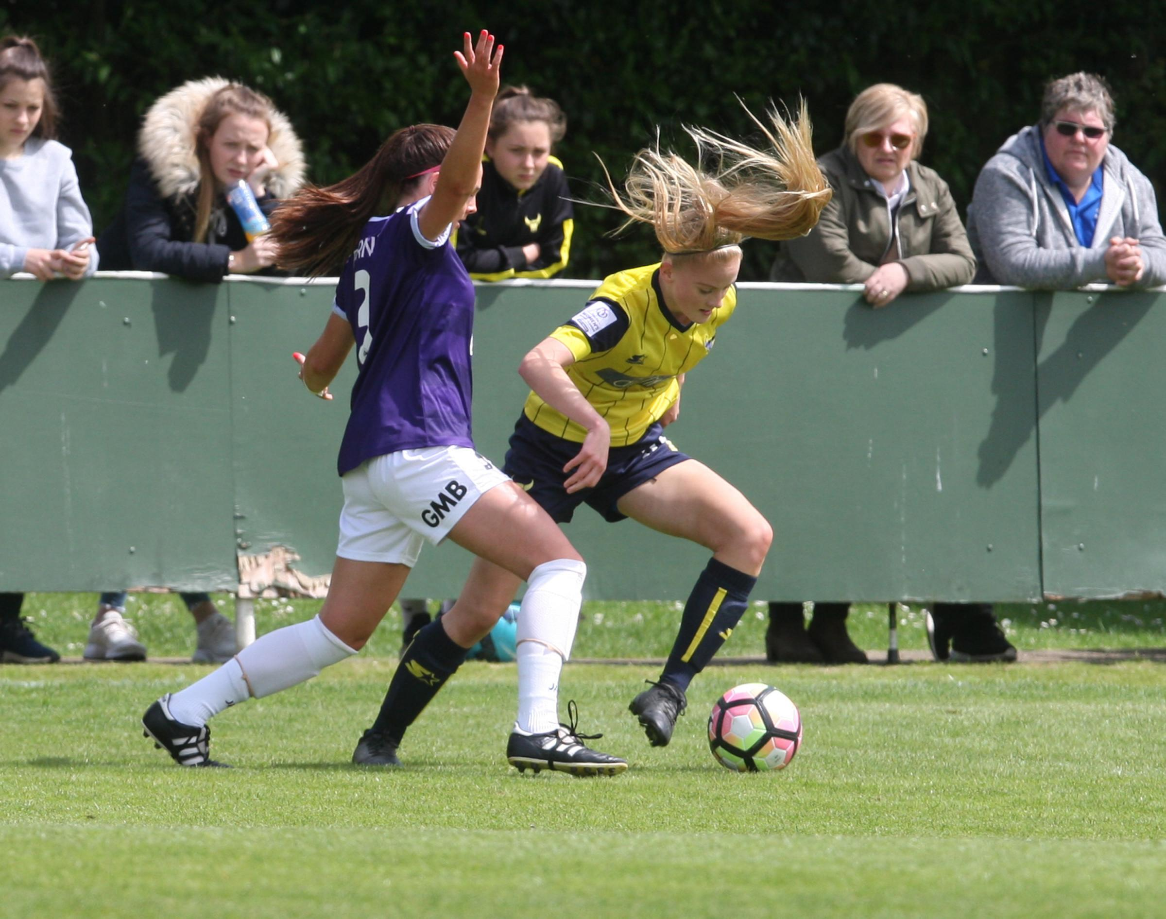 Evie Gane gave Oxford United the lead during their 2-1 defeat to Blackburn Rovers in the SSE Women's FA Cup
