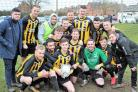 Drayton celebrate after being named the North Berks League team of the month for December