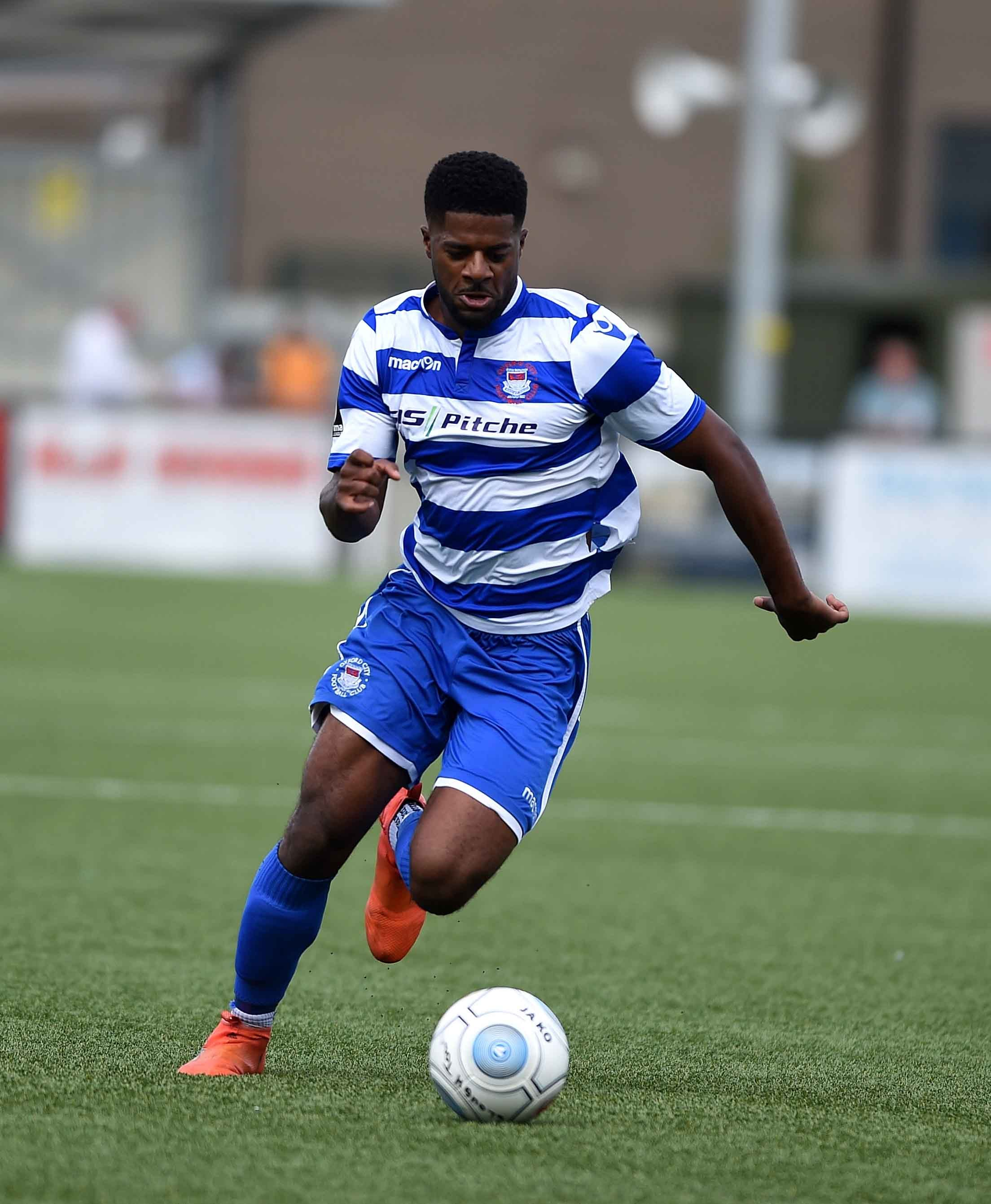 Kyran Wiltshire is back from suspension for Oxford City Picture: Mike Allen
