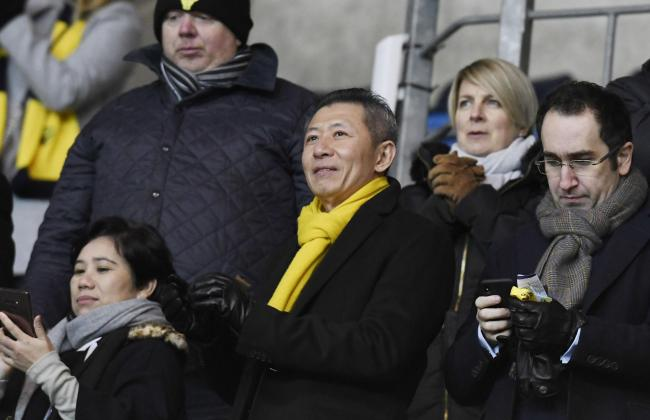 A happy Oxford United owner Sumrith Thanakarnjanasuth at the final whistle on SaturdayPicture: David Fleming