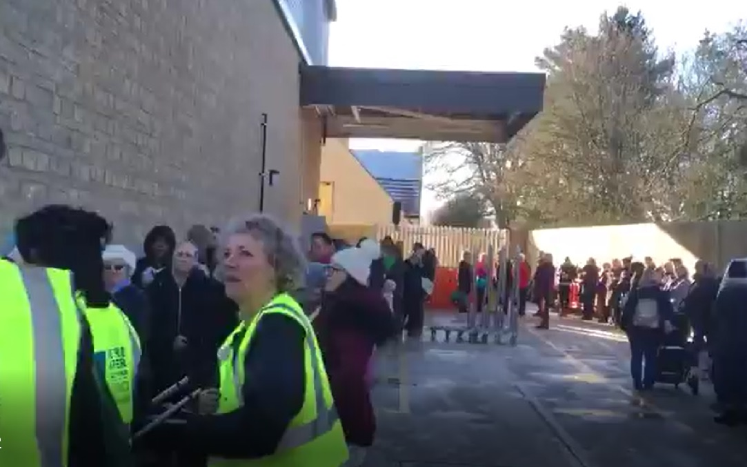 WATCH: Huge queue for new M&S opening - plus lifesize Percy Pig