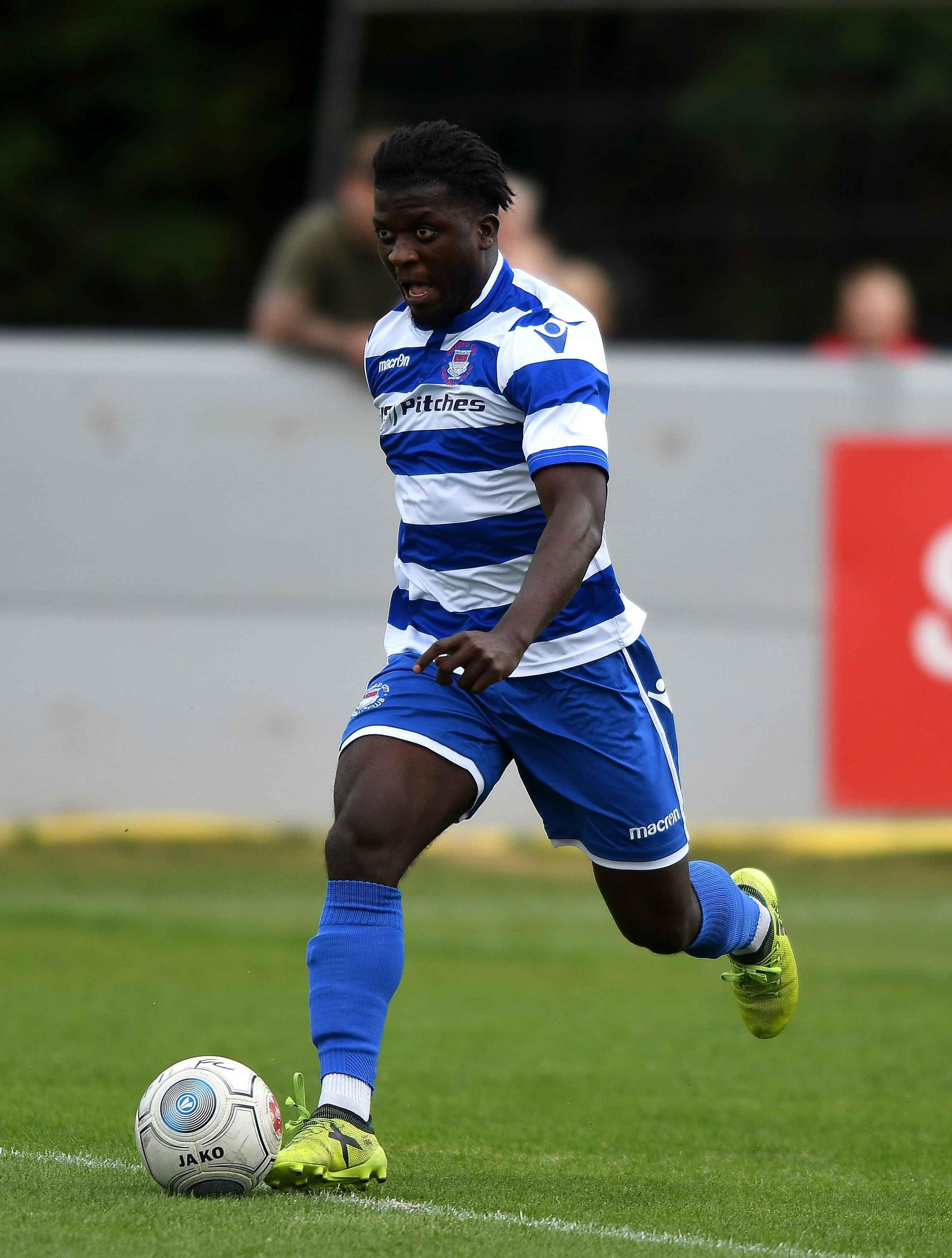 Kabongo Tshimanga scored for Oxford City  Picture: Mike Allen