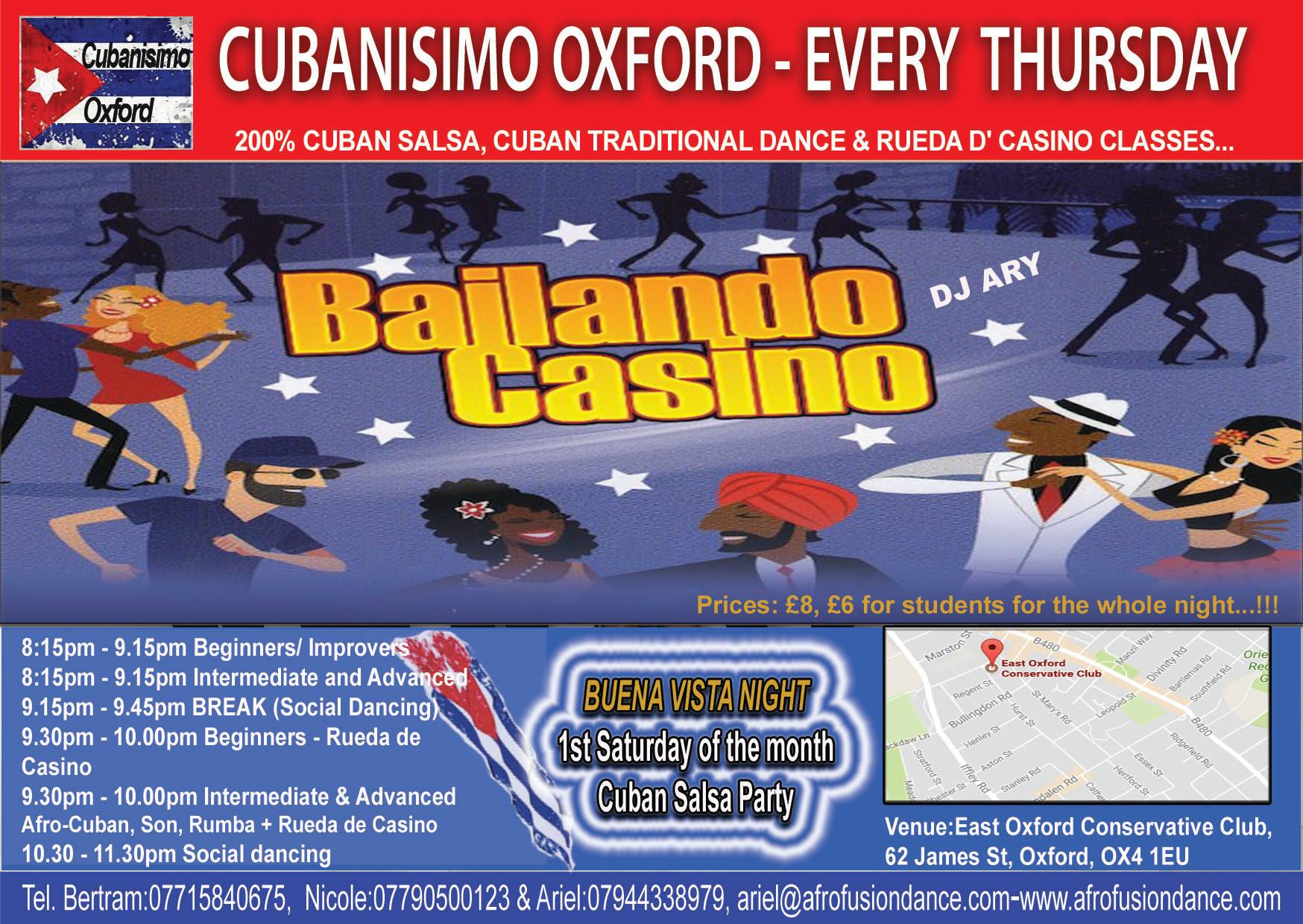 Cuban Salsa Lessons in Oxford