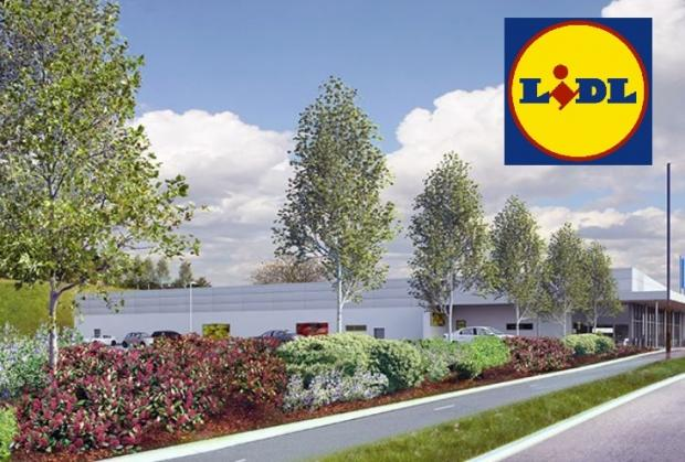 Oxford Mail: Artist impression of the Lidl Grove store. Image: Lidl