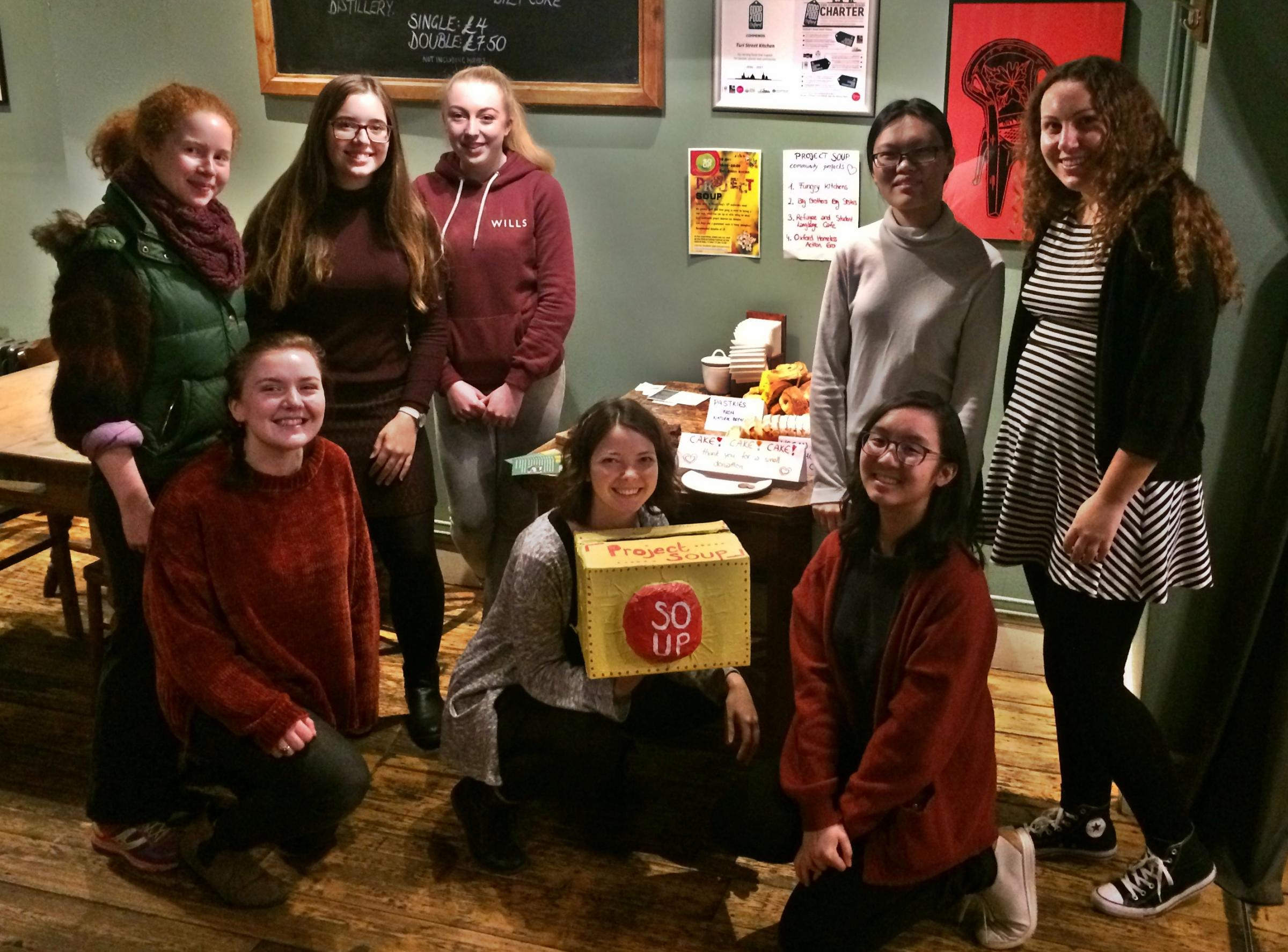 The Project Soup team fundraising and feasting at the Turl Street Kitchen, November 19, 2017.