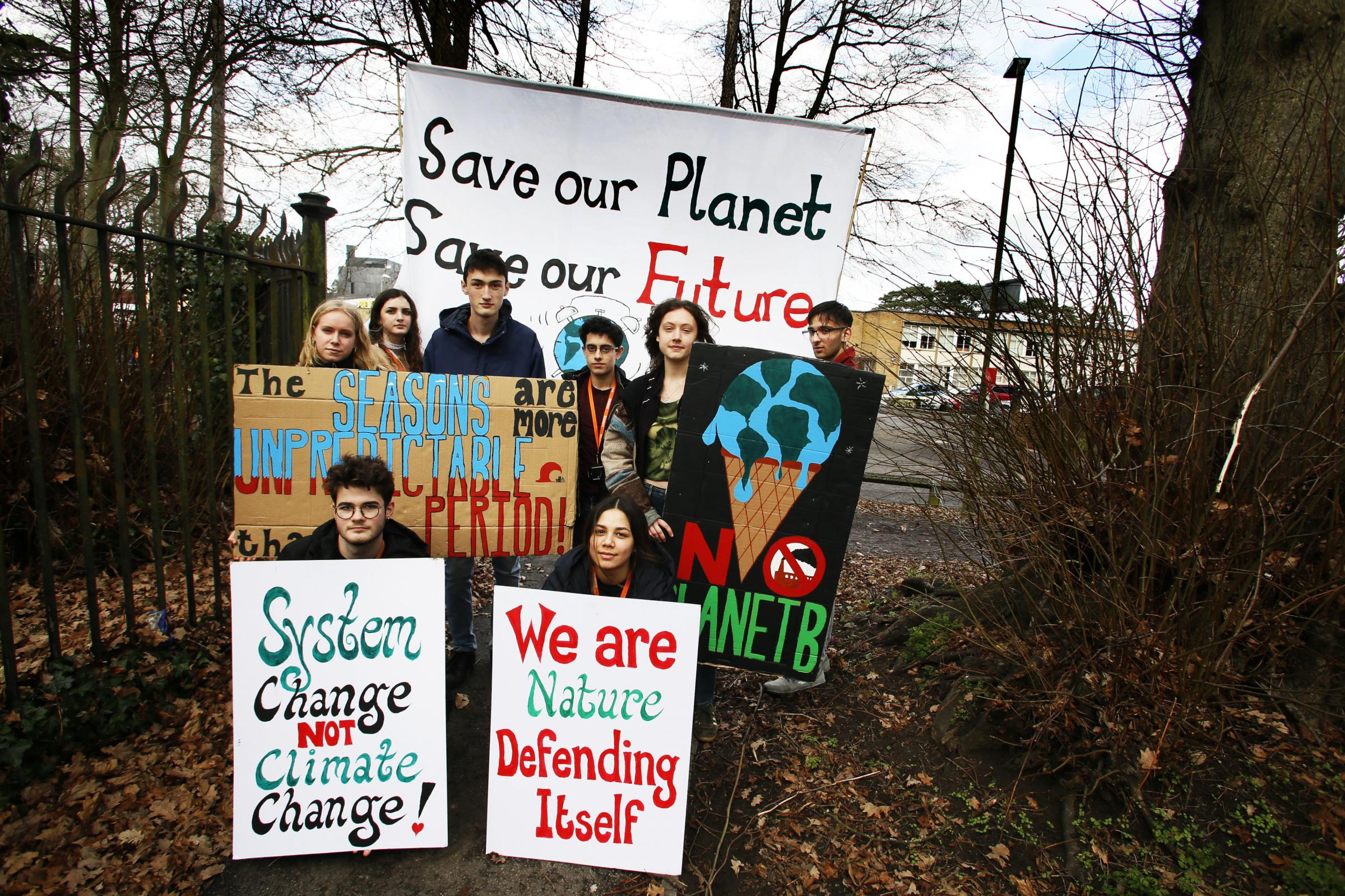 Students from the Cheney School are set to go on strike next week over climate change..07/02/2019.Picture by Ed Nix....