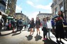 Tourists in Cornmarket Street Pic Oxford Mail