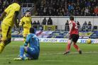 Marcus Browne scores Oxford United's late equaliser against Sunderland  Picture: David Fleming