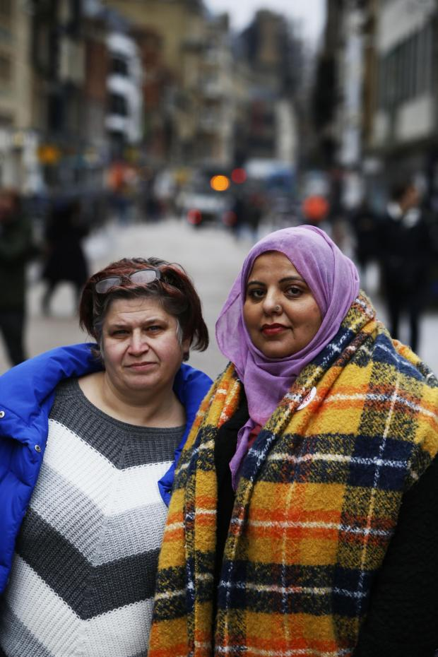 Oxford Mail: Shaista Aziz (right) with Monica Gregory