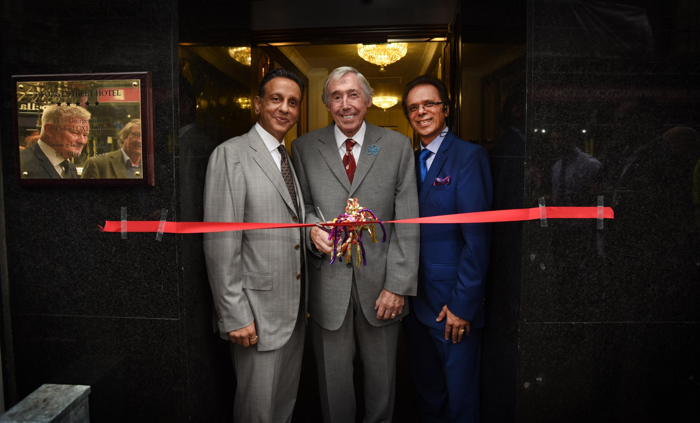Official opening of the 5 Star George Street Hotel. Rajinder Pal,Gordon Banks and Hardeep Gidda. pictured by Richard Cave in 2017
