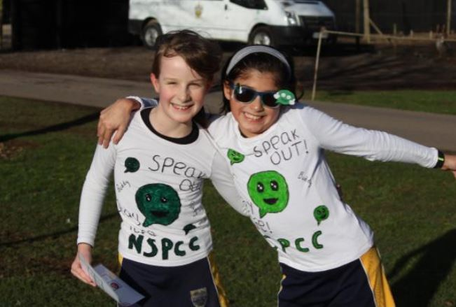 Cokethorpe Junior School sponsored walk for the NSPCCs 'Speak Out, Stay Safe' campaign. Pic: Cokethorpe Junior School