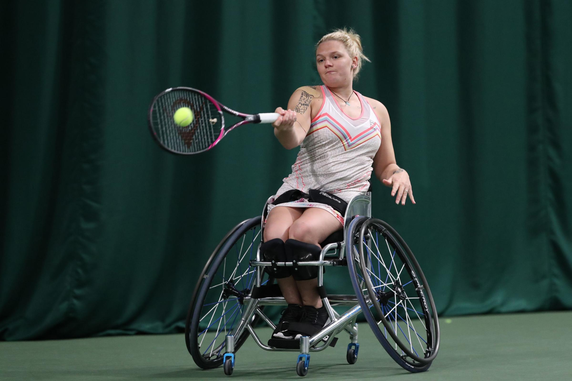 Jordanne Whiley beat Michaela Spaanstra in straight sets in Switzerland Picture: LTA