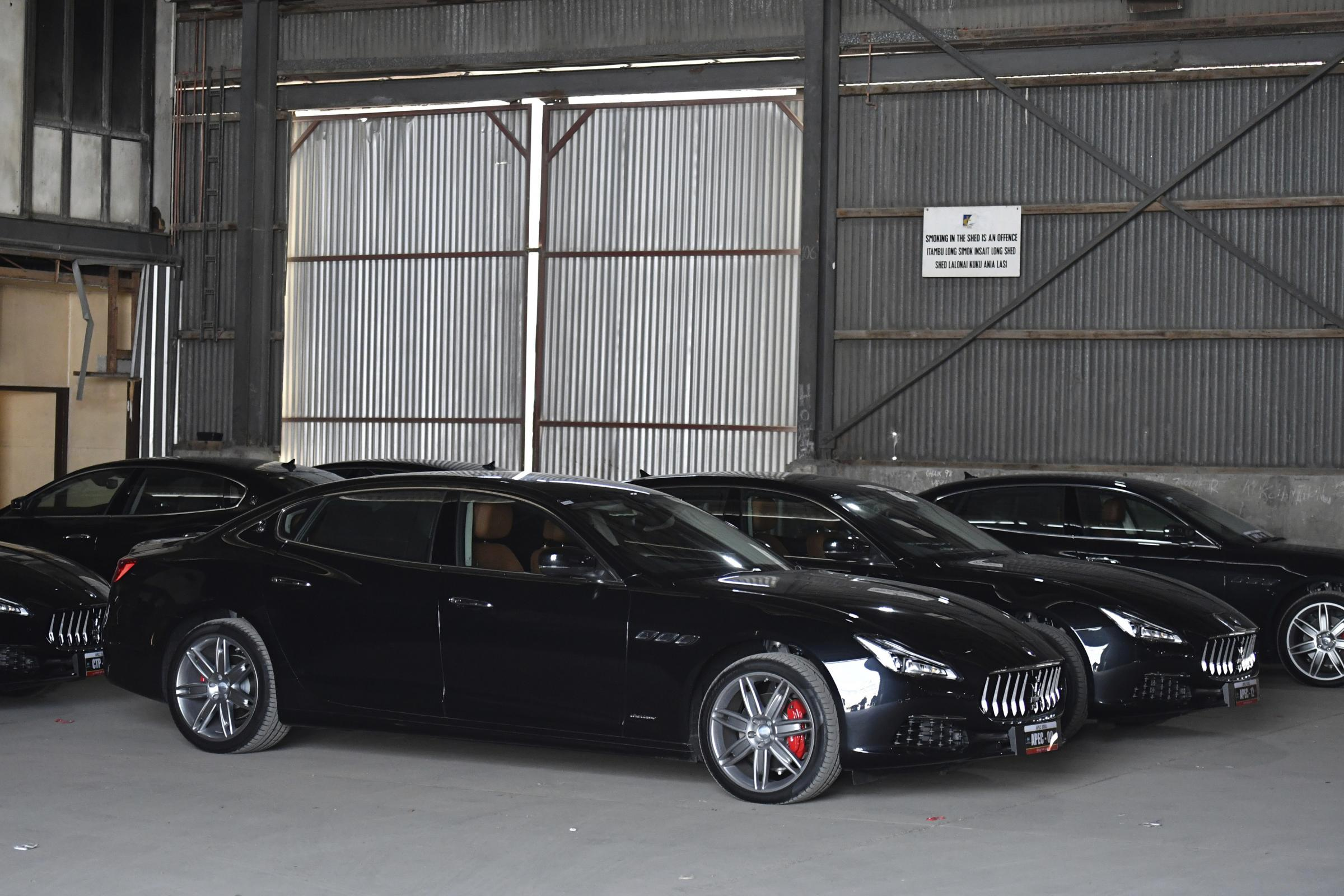 A selection of Maserati cars