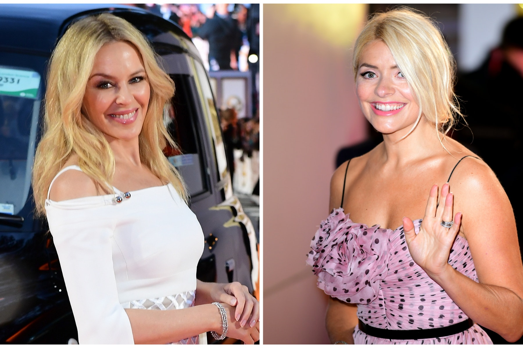 Holly Willoughby and Kylie Minogue