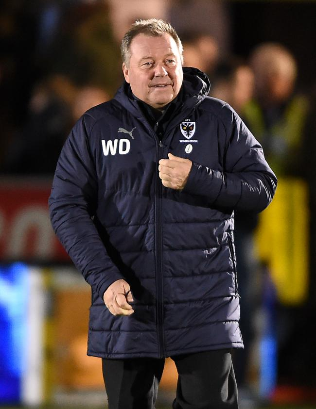 AFC Wimbledon manager Wally Downes  Picture: Daniel Hambury/PA Wire