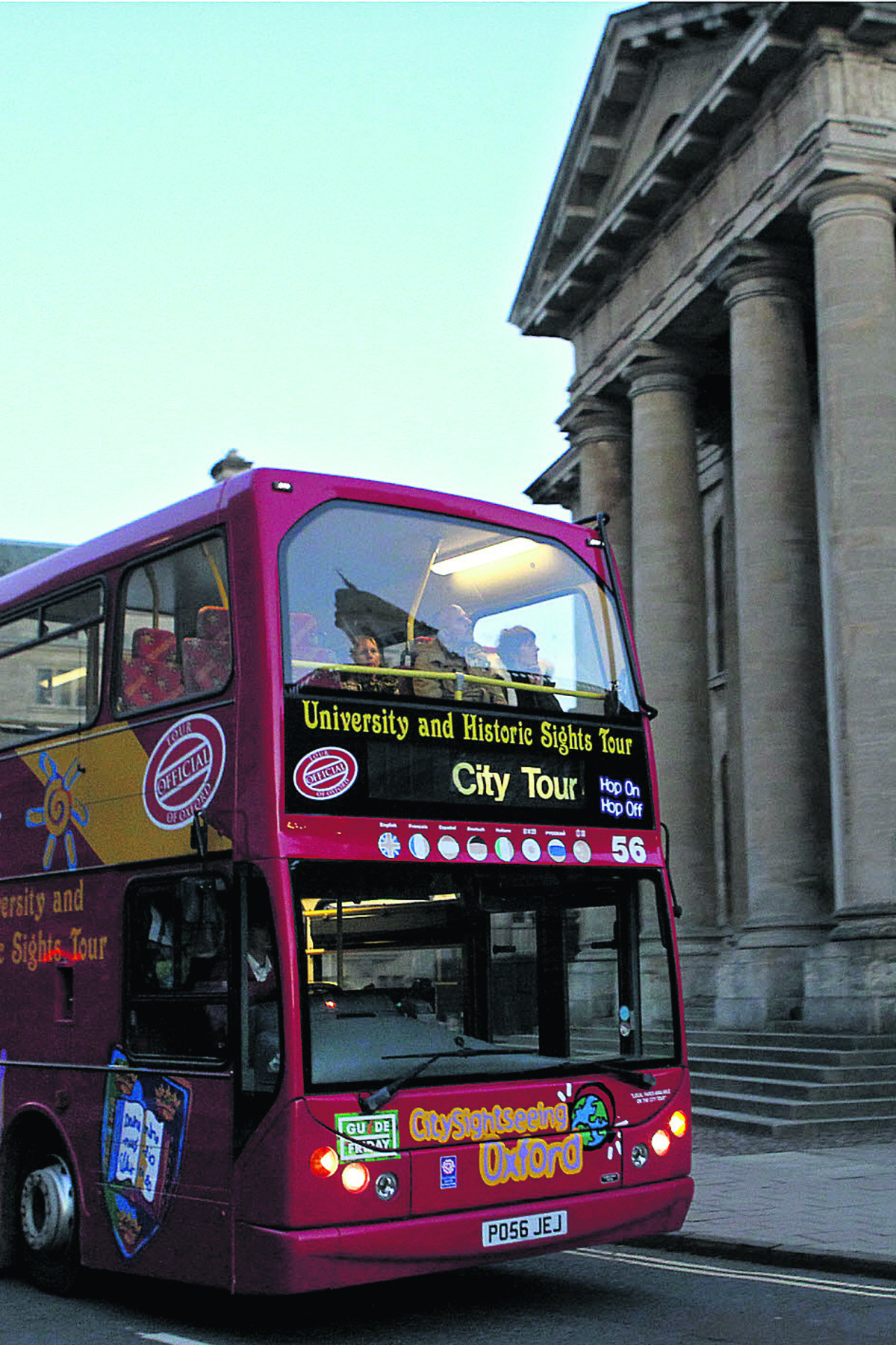 City Sightseeing Oxford, open-top tour bus service exclusive to the city