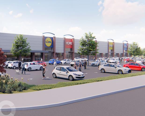 Oxford Mail: Artist impression of the Fairacres Retail Park refurb