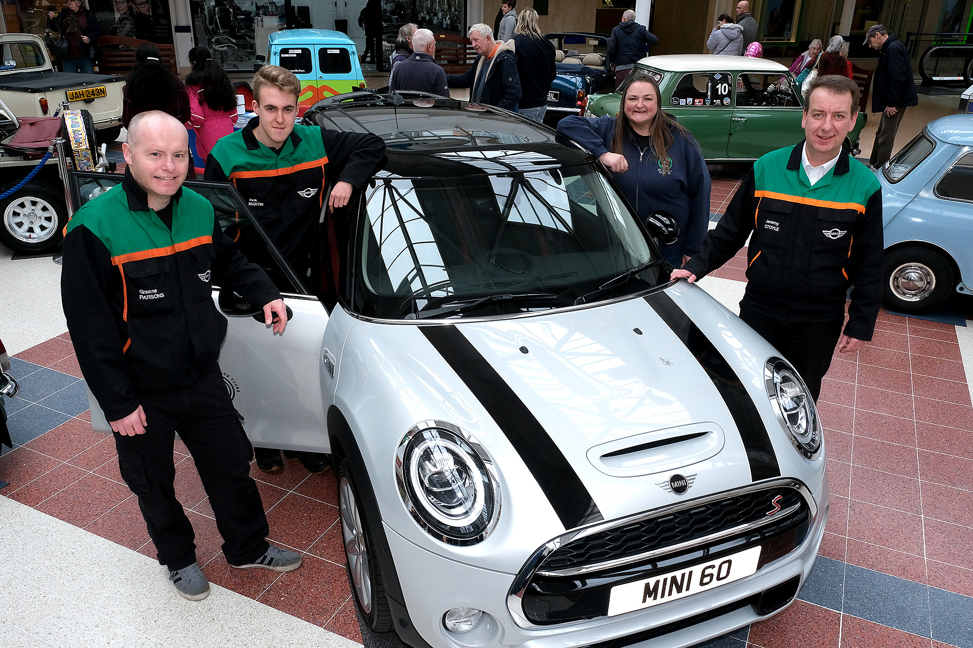 See the new electric Mini at Oxford shopping centre