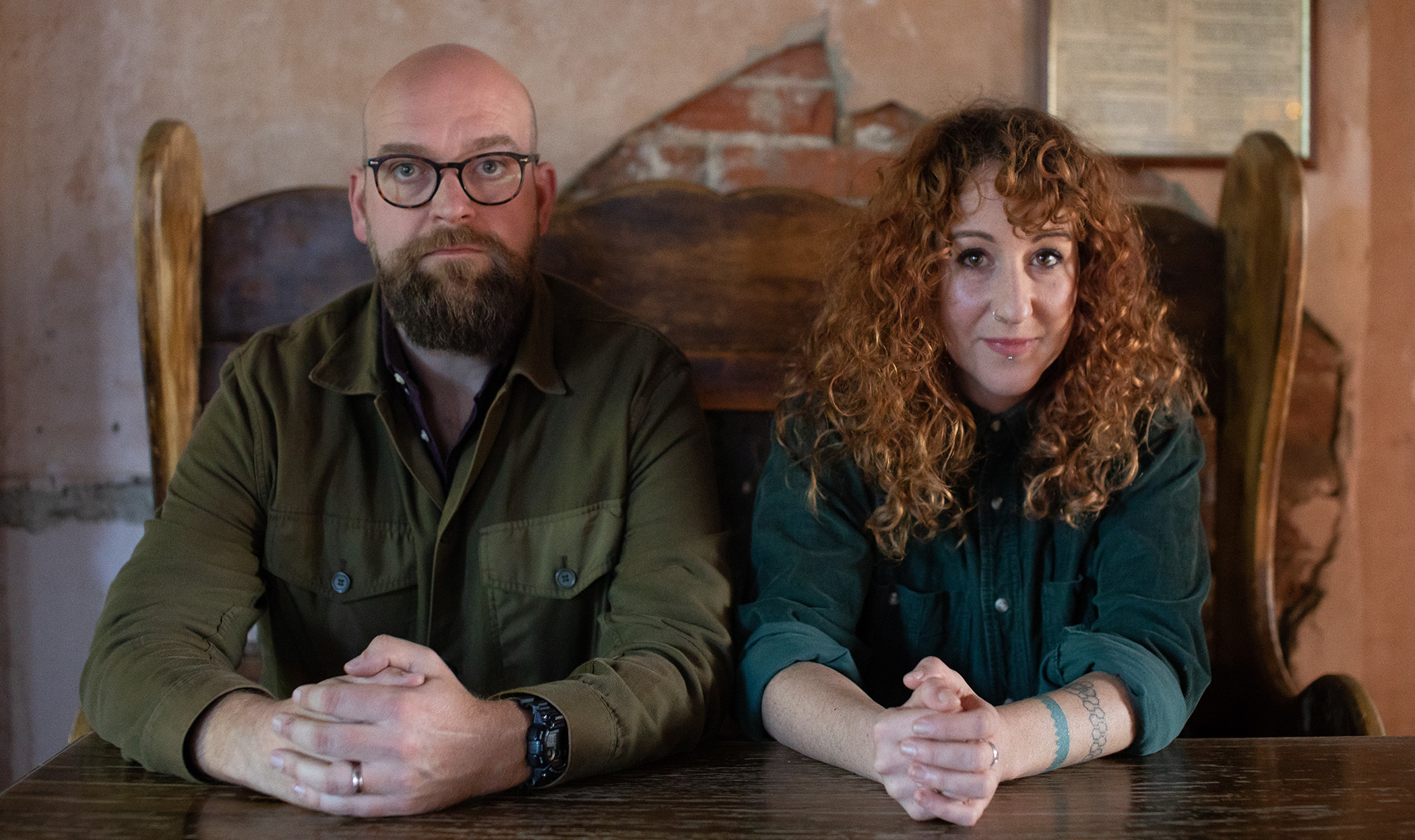 Findlay Napier and Megan Henwood