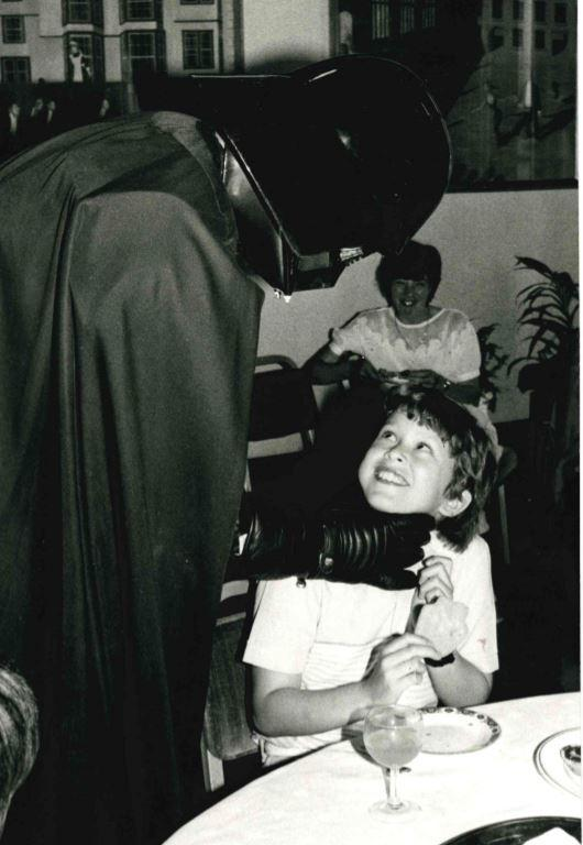 Darth Vader visits the Randolph Hotel