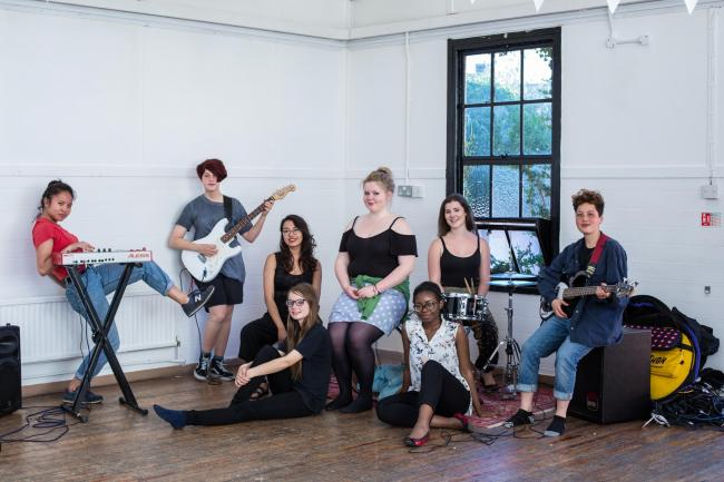 Safe space: Young Women's Music Project. Picture: Joyce Nicolls