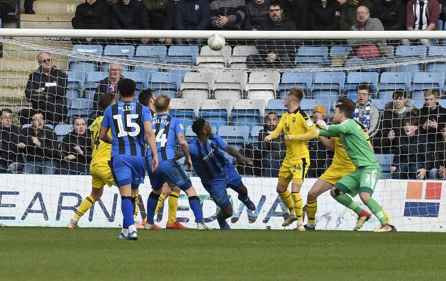 Brandon Hanlan scores the winning goal against Oxford United in the 89th minute  Picture: David Fleming