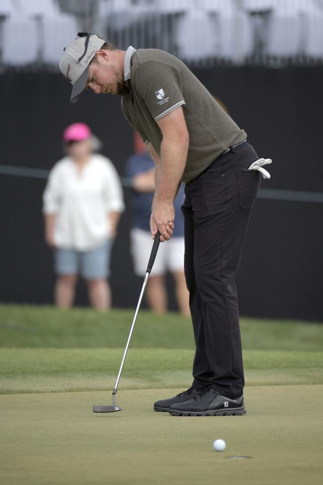 Eddie Pepperell watches his putt on the ninth green during the final round of the Arnold Palmer Invitational Picture: APPhoto/Phelan M. Ebenhack