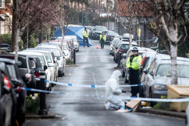 Southfield Road cordon after the stabbing