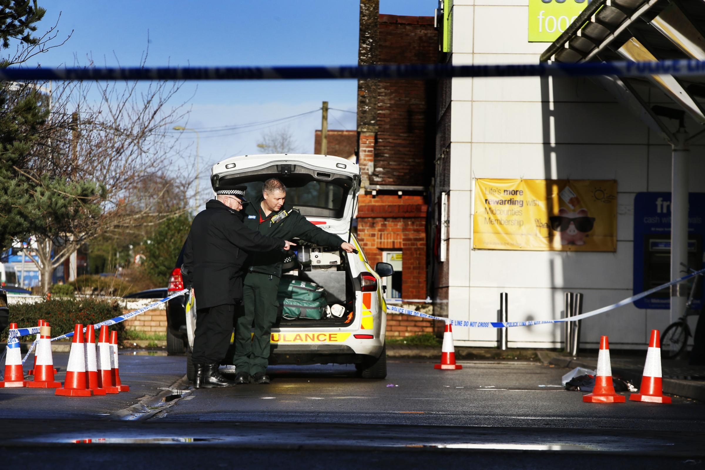 Headington Co-op was closed yesterday afternoon after a woman was reportedly stabbed at 3.10pm