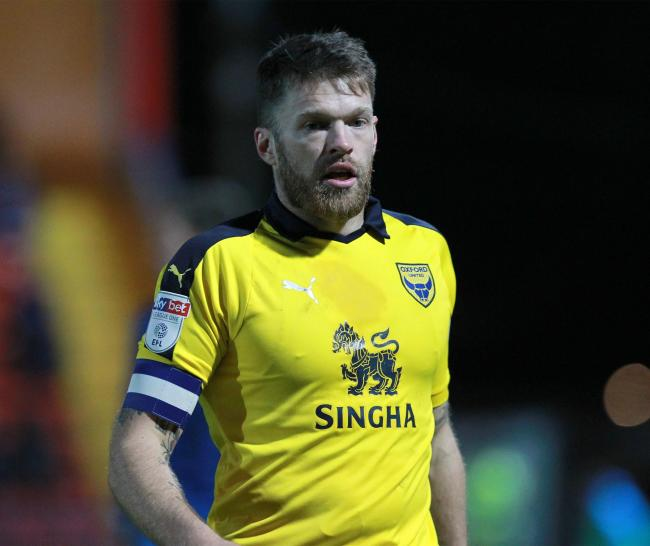 Jamie Mackie will miss Oxford United's game with Oxford City tonight    Picture: Richard Parkes