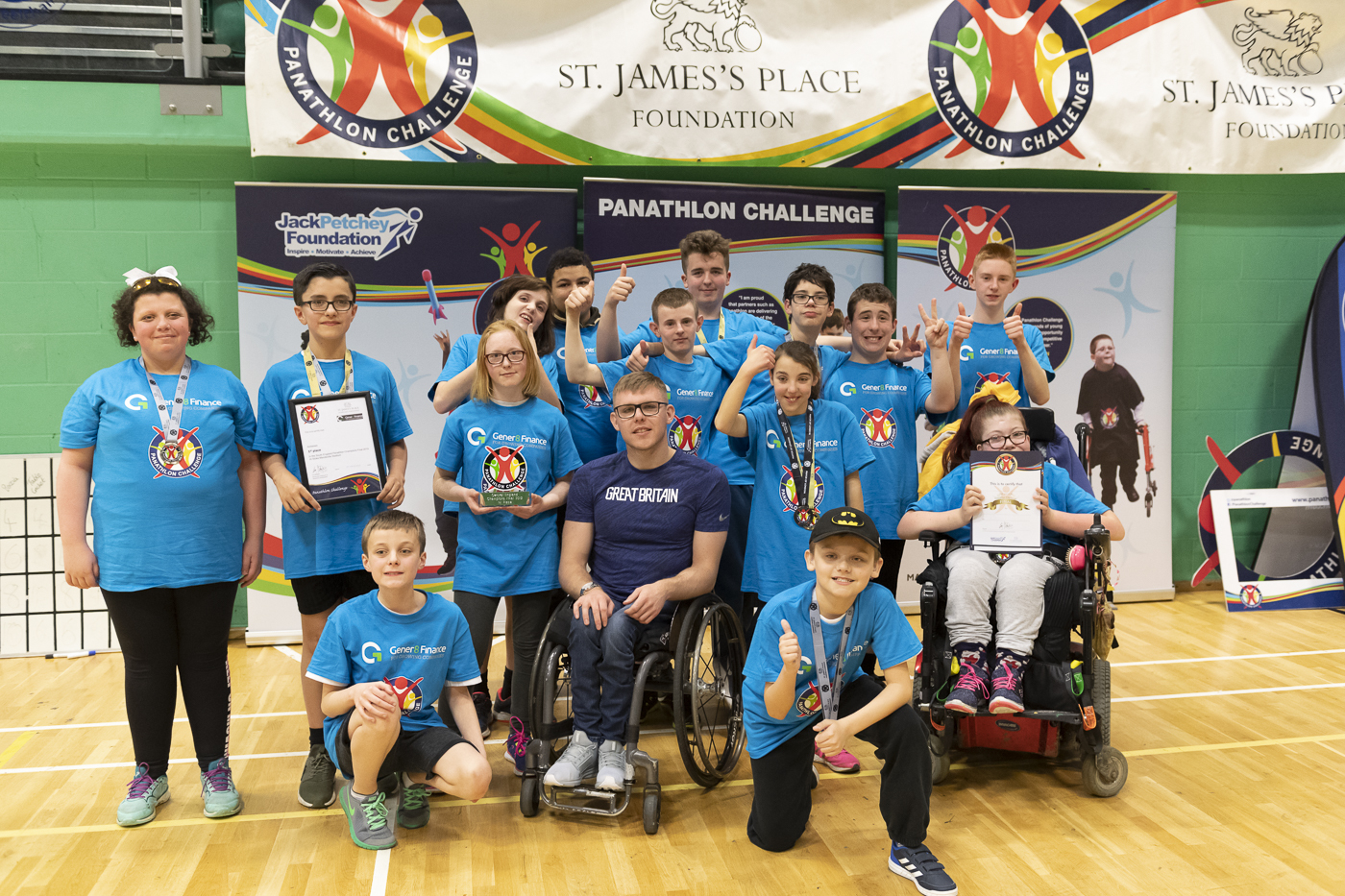 Students at Fitzwaryn School won a regional final in the Panathlon. Picture: Harish Chavda