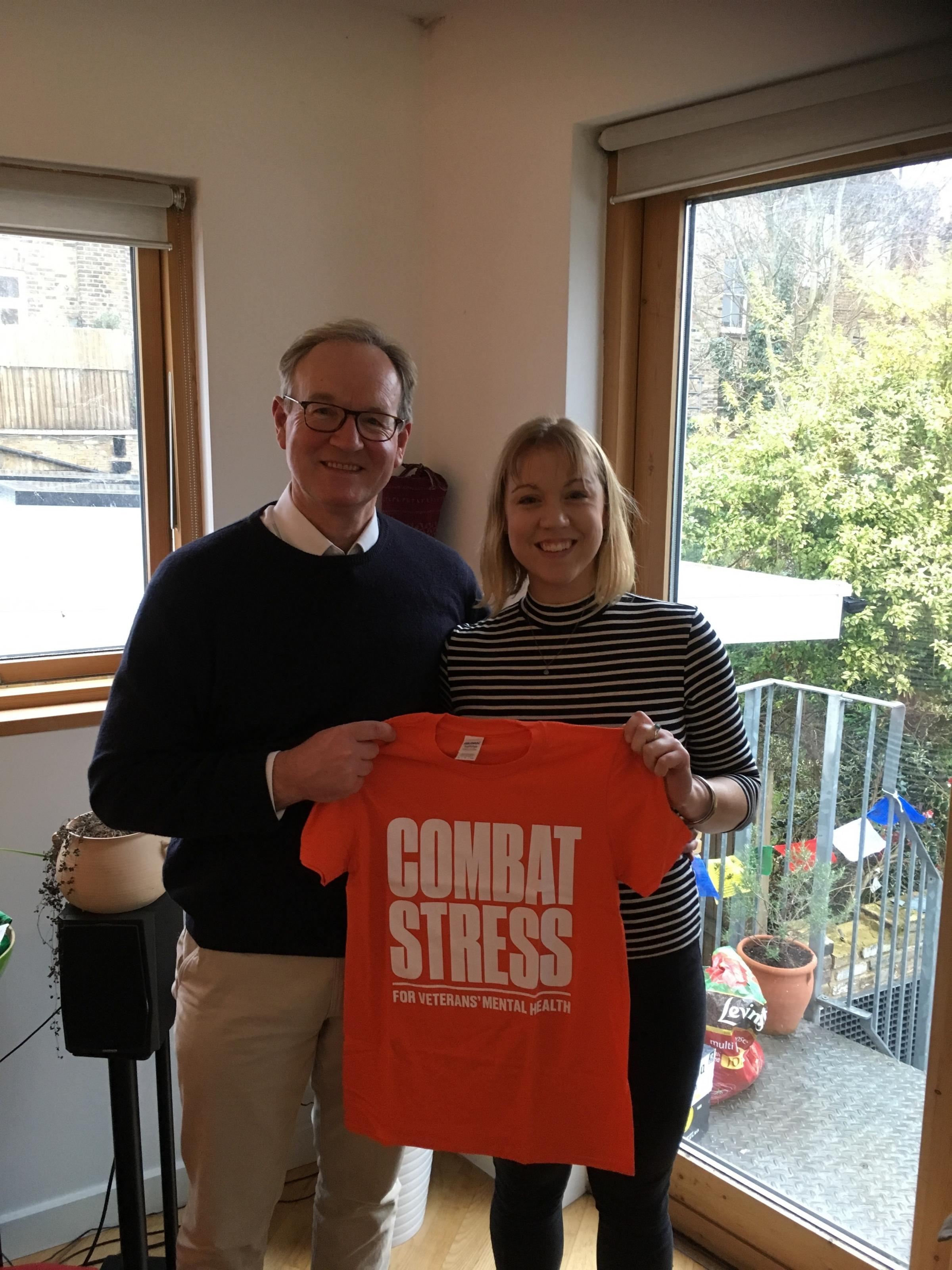 Robin and Emily Carr will run the London Landmarks Half Marathon for Combat Stress