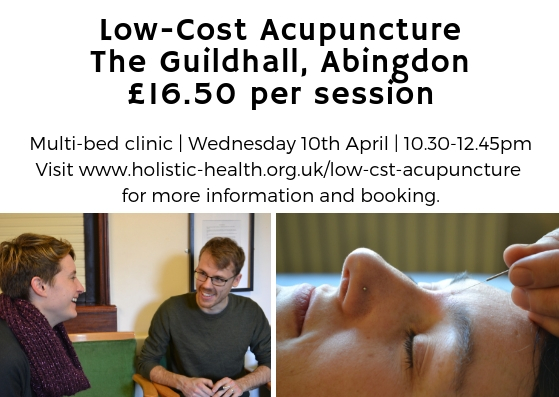 Low-cost Community Acupuncture @ Abingdon Guildhall