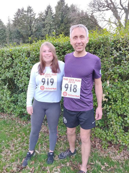 Abbie Hurdiss and father Tim to take on Oxford Mail OX5 Run. March 2019