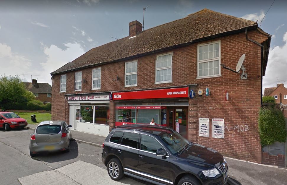 Ridgeway Road newsagents, Didcot. Picture Google Maps